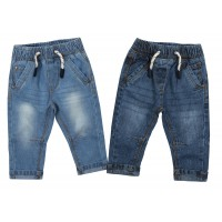 Baby Boys Soft Fit Stretch Jeans Toddlers Pull On Denim Trousers Jeggings Age