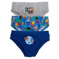 Boys Pack Of 3 Marvel Avengers Briefs