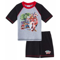Marvel Avengers Short Pyjamas - Grey / Black