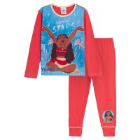 Girls Disney Moana Pyjamas Kids Full Length Character Pjs Set Gift Nightwear