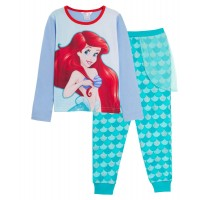 Girls Disney The Little Mermaid Dress Up Pyjamas Ariel Full Length Novelty Pjs