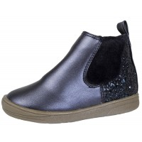 Faux Patent Leather Chelsea Ankle Boots