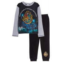 Boys Harry Potter Full Length Pyjamas Kids Hogwarts Long Pjs Set Nightwear Size