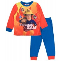 Fireman Sam Long Pyjamas - Orange