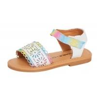 Infant Girls Rainbow Glitter Sandals