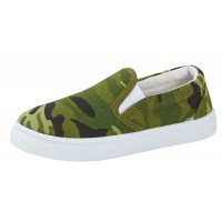 Boys Camouflage Canvas Pumps