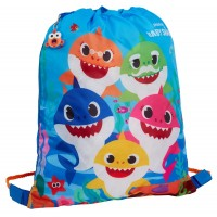 Boys Girls Baby Shark Drawstring Bag