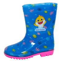 Baby Shark Wellington Boots Girls Character Rain Wellies Snow Boots Kids Shoes