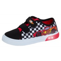 Boys Disney Cars Light Up Canvas Pumps