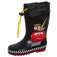 Boys Disney Cars Tie Top Wellingtons Kids Lightning McQueen Wellington Rain Boot