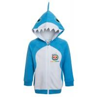 Coco Melon Baby Shark Hooded Jacket Boys Dress Up Zip Hoodie Infants Jumper Size