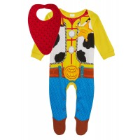 Baby Boys Sheriff Woody Babygrow + Bandanna Outfit