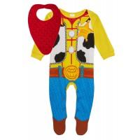 Baby Boys Sheriff Woody Babygrow + Bandanna Outfit