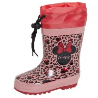 Girls Minnie Mouse Tie Top Wellington Boots