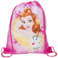 Girls Disney Princess Belle Drawstring Gym Bag