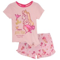 Girls Disney Princess Short Pyjamas - Aurora