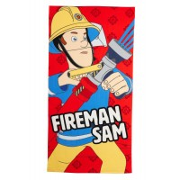 Boys Fireman Sam Beach Towel Kids Character Pool Holiday Swimming Wrap One Size