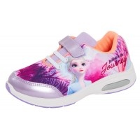 Girls Disney Frozen 2 Light Up Trainers Kids Elsa Anna Sports Shoes Pumps Size
