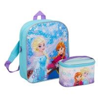 Disney Frozen Girls Backpack + Train Case Set Kids School Nursery Bag Luggage