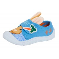 Boys Peter Rabbit 3D Ears Canvas Pumps Kids Easy Fasten Summer Trainers Age Size