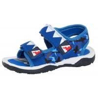 Boys Novelty Shark Sandals - Blue