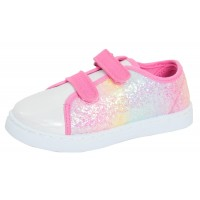 Girls Glitter Ombre Canvas Pumps
