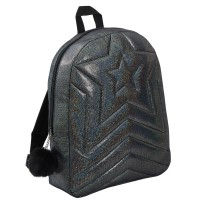 Girls Shimmer Quilted Back To School Backpack Bag