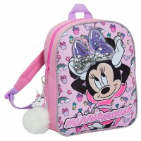Disney Minnie Mouse Glitter Backpack Kids School Nursery Lunch Book Bag Rucksack
