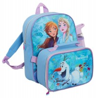 Girls Disney Frozen 2 Backpack + Lunchbox + Water Bottle Matching Luggage Set