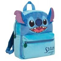 Girls Lilo & Stitch Plush Backpack Kids Disney School Rucksack 3D Lunch Book Bag