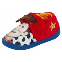Kids Disney Toy Story Woody Slippers Boys Comfort Easy Touch Fasten House Shoes
