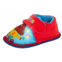 Boys Hey Duggee Light Up Slippers Infants Easy Fasten Lined Nursery House Shoes