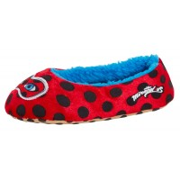 Girls Miraculous Ladybug Ballet Slippers Kids Fleece Lined House Shoes Size