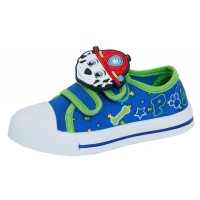 Boys Paw Patrol Canvas Pumps Kids Chase Marshall Easy Fasten Summer Trainers