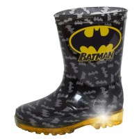 Boys Batman Light Up Wellington Boots Kids DC Comics Rain Snow Shoes Wellies