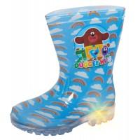 Boys Hey Duggee Light Up Wellington Boots Kids Rainbow Snow Rain Shoes Wellies