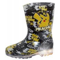 Boys Pokemon Pikachu Light Up Wellington Boots Kids Rain Snow Shoes Wellies Size
