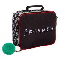 Friends Lunch Bag Girls Insulated Lunch Box For Kids Pom Pom School Cooler Bag