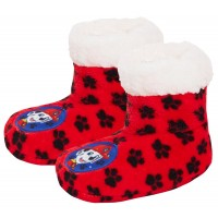 Boys Paw Patrol Slipper Bootie Kids Chase Marshall Snuggle Fleece Lined Slippers