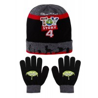 Boys Disney Toy Story Woolly Hat + Gloves Winter Set Kids Buzz Woody Forky Gift
