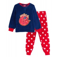 Girls Miraculous Ladybug Fleece Pyjamas Kids Plush Twosie Lounge Set Pjs Gift