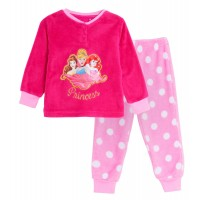 Girls Disney Princess Fleece Pyjamas Kids Plush Twosie Lounge Set Pjs Gift Size