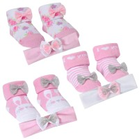 Baby Girls Headband + Socks Gift Set