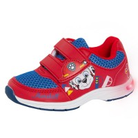 Boys Paw Patrol Light Up Sport Trainers Kids First Walkers Flashing Botties Size