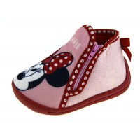 Minnie Mouse Zip Bootie Slippers