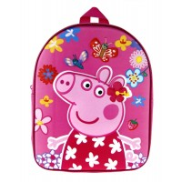 Peppa Pig Backpack  3D Pink Glitter