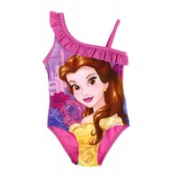 Girls Disney Belle Swimming Costume - Ruffle Shoulder