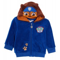 Baby Boys Paw Patrol Novelty Hooded Fleece Jacket Toddlers Chase Marshal Jumper