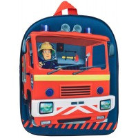 Boys Fireman Sam 3D Backpack