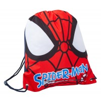 Spiderman Boys Drawstring Bag - Face